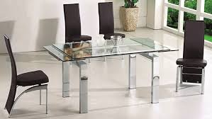creative of extendable glass dining table set modern extendable dining table design