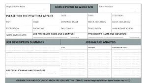 Extra Work Authorization Form Construction Template Temp