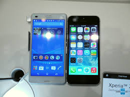 sony xperia z3 compact. sony xperia z3 compact vs apple iphone 5s n