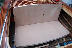 for the bench seats i have used 12mm marine ply and ed and glued this to a softwood frame for added strength the rear seat will be hinged from its