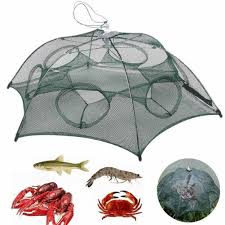 <b>New Foldable Automatic</b> Minnow Shrimp Eel Fish Crab Mesh Cage ...