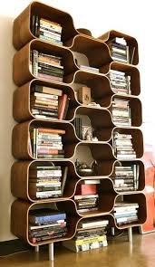 stylish bookcase design in various models amazing mid century modern bookcase design with some detached rooms countain many stacked books