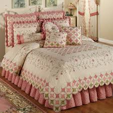 Bedroom: Quilted Bedspreads With White Rug And Wooden Bedside ... & quilted bedspreads with glass window and wood laminate flooring also pink  decorative rug for modern bedroom Adamdwight.com