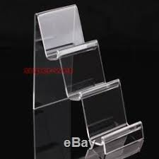 Acrylic Tiered Display Stands 100 x Acrylic 100 Tiers Display Holder Stand Rack Mount for Mobile 83