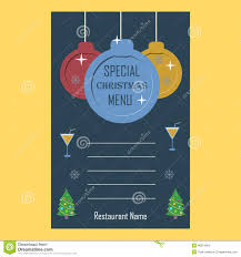 christmas menu template royalty stock image image  special christmas restaurant menu flat design template stock images