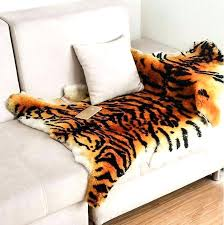 faux skin rug tiger fur rug faux skin with head co
