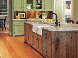 retro kitchen style with white ceramic kitchen sink island ideas single handle black bronze faucet