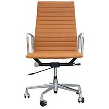 eames ribbed chair tan office. eames inspired high back ribbed office chair in tan leather s