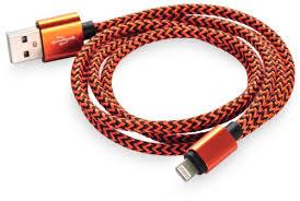 Отзывы на Кабель <b>Gurdini Nylon Lightning</b> orange - black для ...