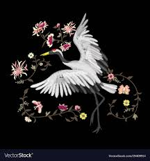 Romantic Embroidery Designs Embroidery Embroidered Design Element Bird