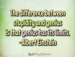 Cool Quotes Unique The Difference Between Stupidity And Genius Is That Genius Has Its