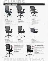 premiera tera catalog 2016 page 22 tera mesh seating high back web chair ter b580 list 345 00 leather seat adjule tilt tension control