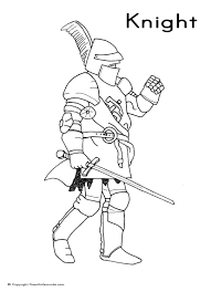 Small Picture Knight Lord Colouring Page