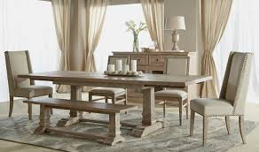 Hudson Extension Dining Table Stone Wash Setting 4