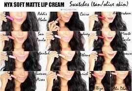 nyx soft matte lip cream swatches tan