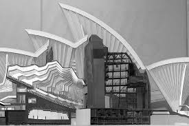 one of jorn utzon s early models for the opera house