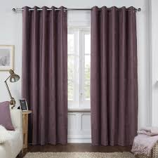 dante mauve luxury soft chenille lined eyelet curtains pair