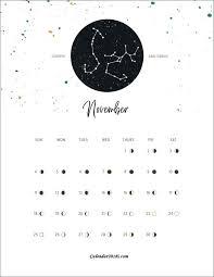 Moon Phases November 2018 Calendar Moon Phase Calendar