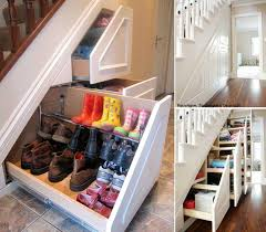 Uncategorized: Atrractive Picture Creative Shoe Storage Under Staiway  Desaign Ideas With Chic Drawers And Chalk