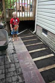 laying a stone paver patio