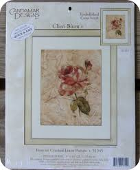 Candamar Designs Embellished Cross Stitch Details About New 2001 Rose Floral Cracked Linen Candamar