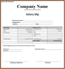 Salary Slip Word Format Salary Slip Template In Salary Payment Voucher Word Template