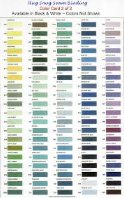 Good Size Color Chart For Snug Hug Color Card Sewing