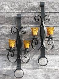 huge vintage wrought iron candle