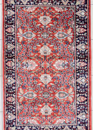 wool silk oriental fl design area rug