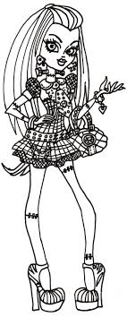 Free Printable Monster High Coloring Pages: Free Frankie Stein ...