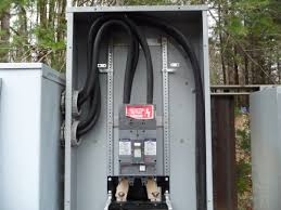 electrical feed to panels service entry wires into main panel