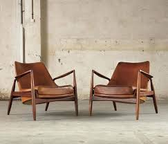 century leather chair pair of 2 seal lounge chairs by in original cognac leather mid century century leather chair