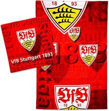 V., commonly known as vfb stuttgart (german pronunciation: Vfb Stuttgart Parure De Lit Motif Blason Rouge 2 Pieces 135 X 200 Cm Signet Nous Aimons Le Football Amazon Fr Sports Et Loisirs