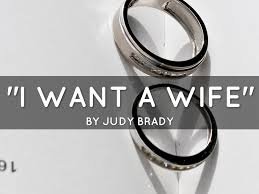 i want a wife course work math essay i want a wife by judy brady