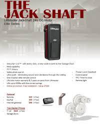 jack shaft opener liftmaster
