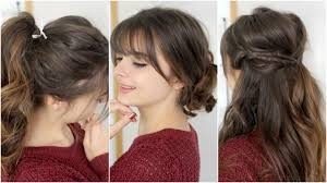 Hairstyles Cute Easy Hairstyles For Straight Hair Good Looking Fun