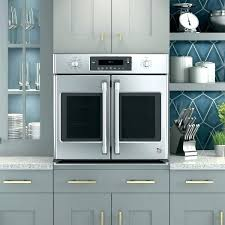 french door double oven cafe oven inch french door electronic convection wall oven in stainless steel
