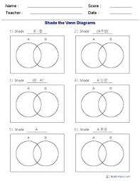 Venn Diagram Math Worksheets Three Set Venn Diagram Math This Diagram Worksheet Is A