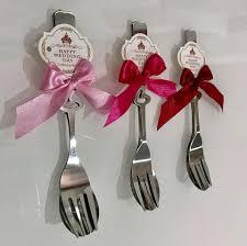 Decorating red door gifts photos : Couple love fork & spoon set under... - Wedding Door Gift, Wedding ...