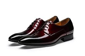 cool pointed toe wine red black derby shoes mens dress shoes genuine leather wedding shoes mens business shoes office shoes shoe boots y shoes from