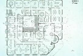 I C I A Bank Headquarters B W Drawing First Floor Plan