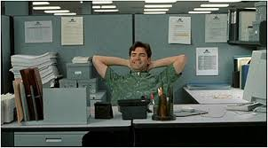 office space photos. what snack is peter eating at his desk when lumberg comes to see him right office space photos e
