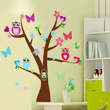 owl tree wall stickers decals cartoon
