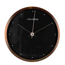 modern aluminium copper hometime wall clock  small