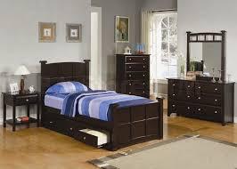 Jasper 4 Pcs Twin Bedroom Set Bed Nightstand Dresser and Mirror