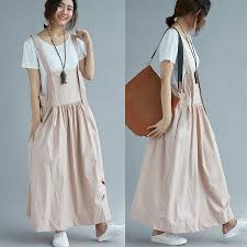 handmade women cotton overalls embroideried swan chic long skirt clothing