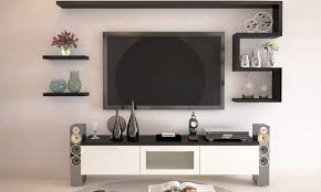 wall mounted tv stand design