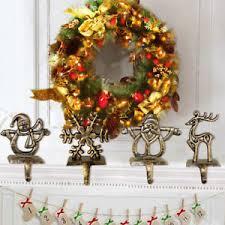 christmas stocking hooks. Contemporary Hooks Image Is Loading 1pcChristmasStockingHooksHangerHolder FireplaceMantel Throughout Christmas Stocking Hooks E