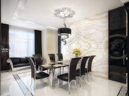 white marble dining room with black furniture black white furniture