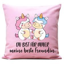Kissen Spruch Für Immer Beste Freunde Von Wandtattoo Loft